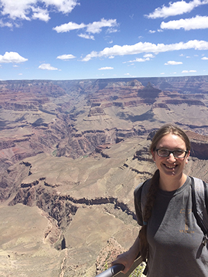 Rose Borden at the Grand Canyon